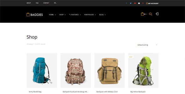 Mẫu website bán hàng balo thời trang | Thiết kế website bán hàng balo thời trang