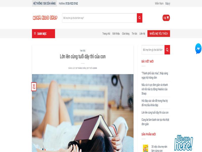 Module blog website bán hàng trẻ em