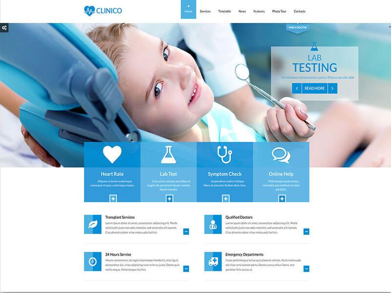 Các chức năng của mẫu website nha khoa