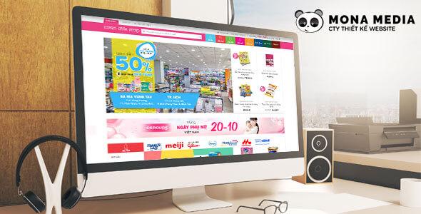 Mẫu website bán hàng mẹ và bé | Thiết kế website bán hàng mẹ và bé