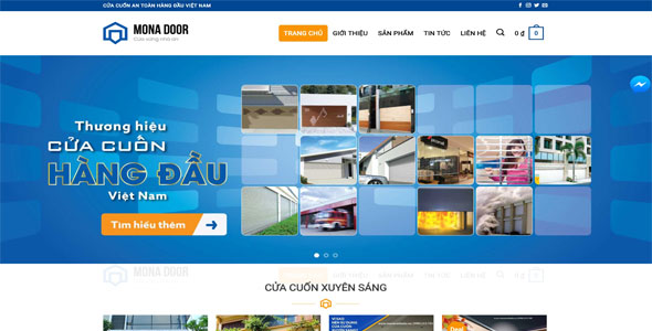 Mẫu website cửa cuốn, cửa nhôm kính | Thiết kế website cửa cuốn