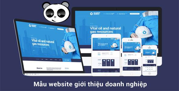 Mẫu website giới thiệu doanh nghiệp
