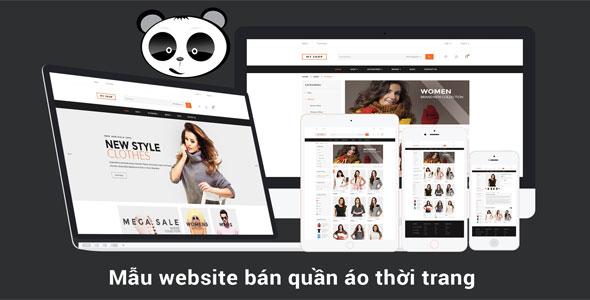 Mẫu website bán hàng thời trang, quần áo