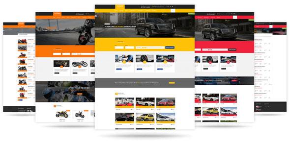 Các module của mẫu website xe hơi