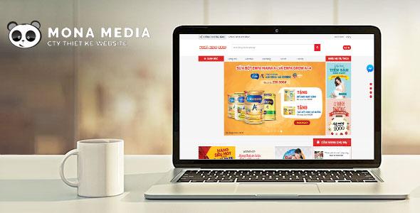 Mẫu website bán hàng trẻ em