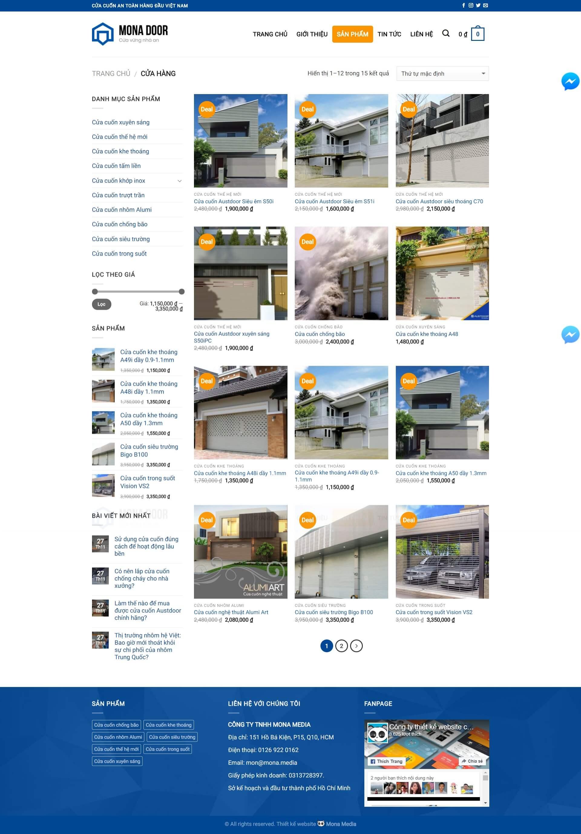 Mẫu website dụng cụ công nghiệp