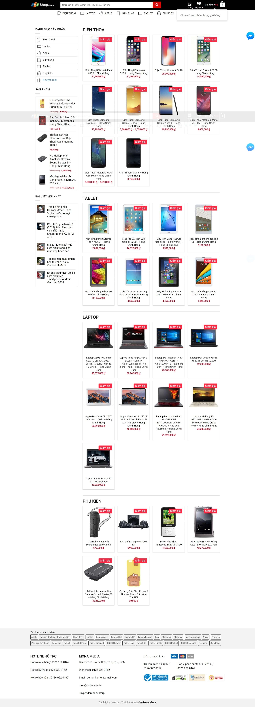 Thiết kế website bán hàng phụ kiện điện thoại giống website fpt shop
