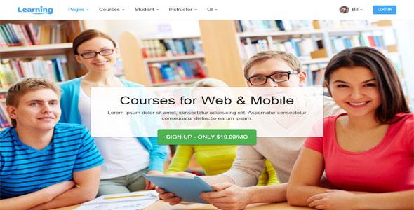 Mẫu website dạy học trực tuyến