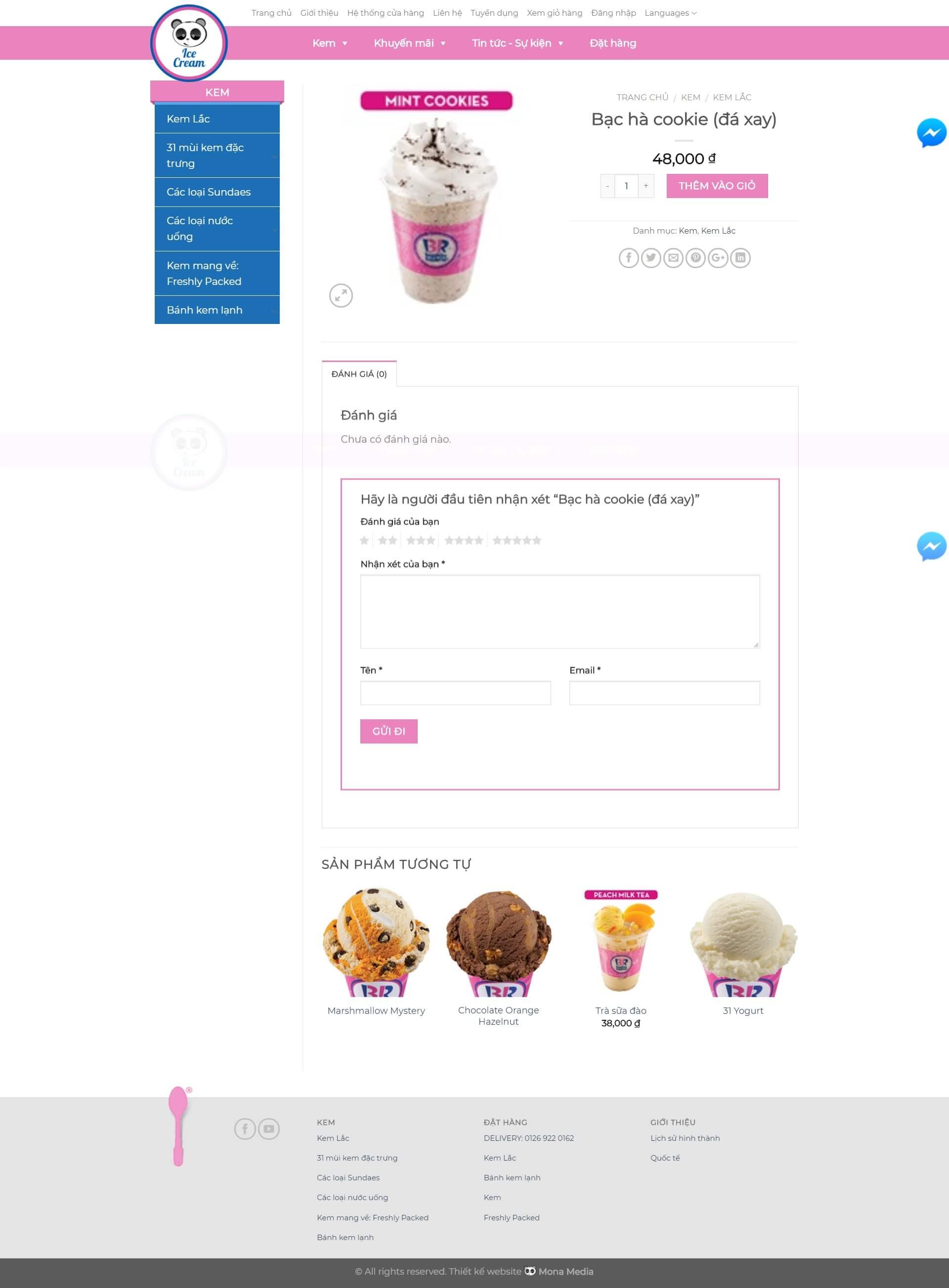 Chức năng đặt hàng online, thanh toán trực tuyến