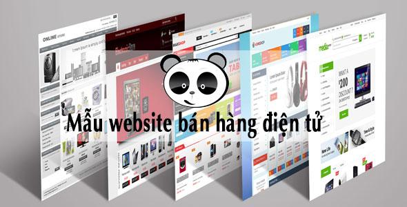 Mẫu website bán hàng điện tử