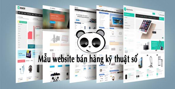Mẫu website bán hàng kỹ thuật số