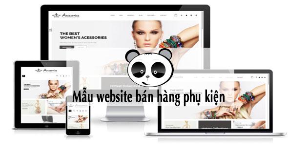 Mẫu website bán hàng phụ kiện