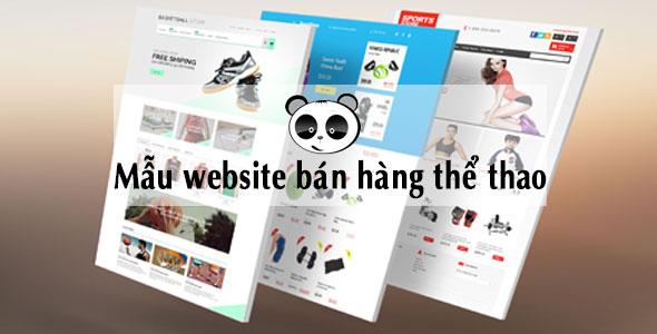 Mẫu website bán hàng thể thao