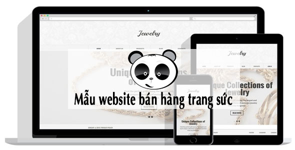 Mẫu website bán hàng trang sức