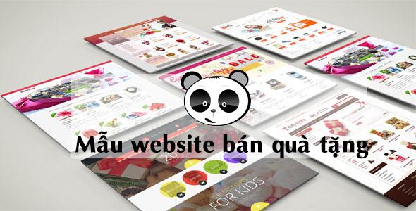 Mẫu website bán hàng quà tặng