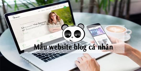 Mẫu website cá nhân