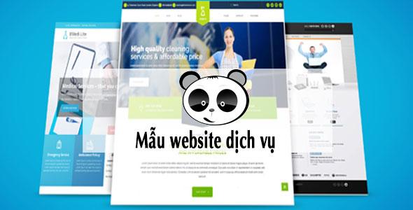Mẫu website dịch vụ