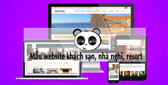 Mẫu website khách sạn, nhà nghỉ, resort