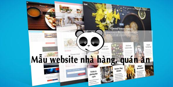 Mẫu website nhà hàng quán ăn