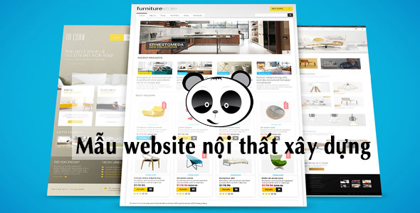 Mẫu website nội thất xây dựng