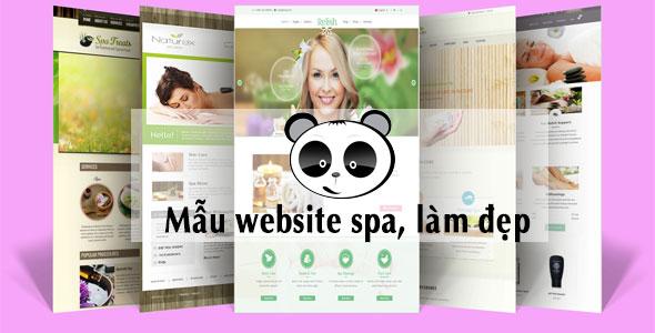 Mẫu website Spa - Làm đẹp