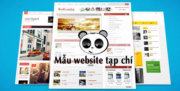 Mẫu website tạp chí