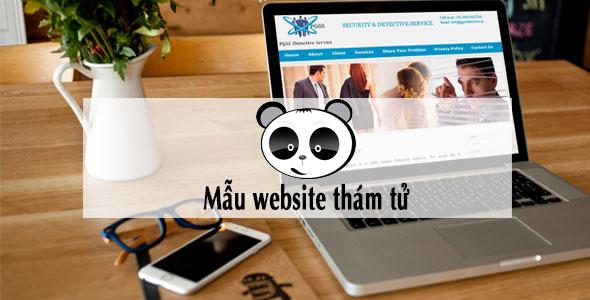 Mẫu website thám tử