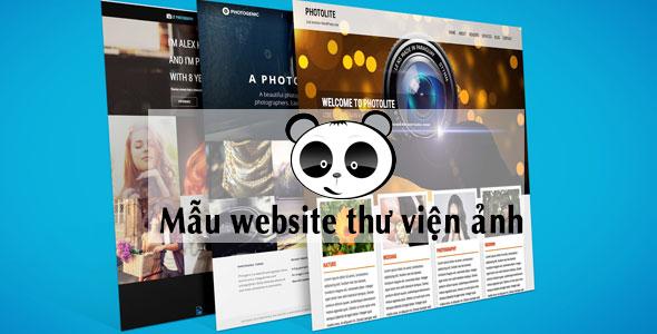 Mẫu website thư viện ảnh
