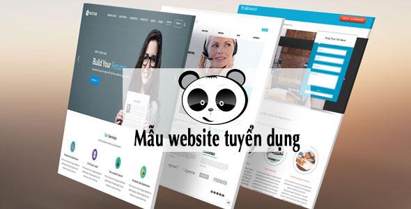 Mẫu website tuyển dụng