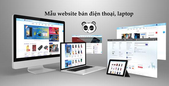 Mẫu website bán laptop | Thiết kế website bán laptop
