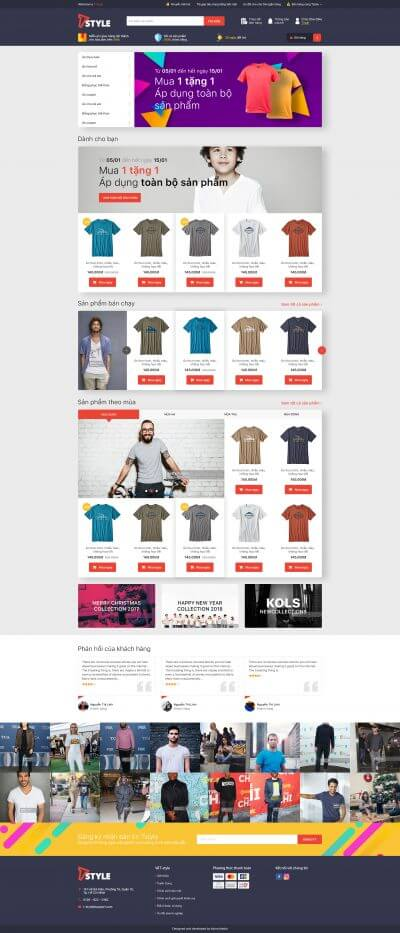 Tstyle - Website thương mại điện tử kết hợp hệ thống Affiliate chuyên nghiệp