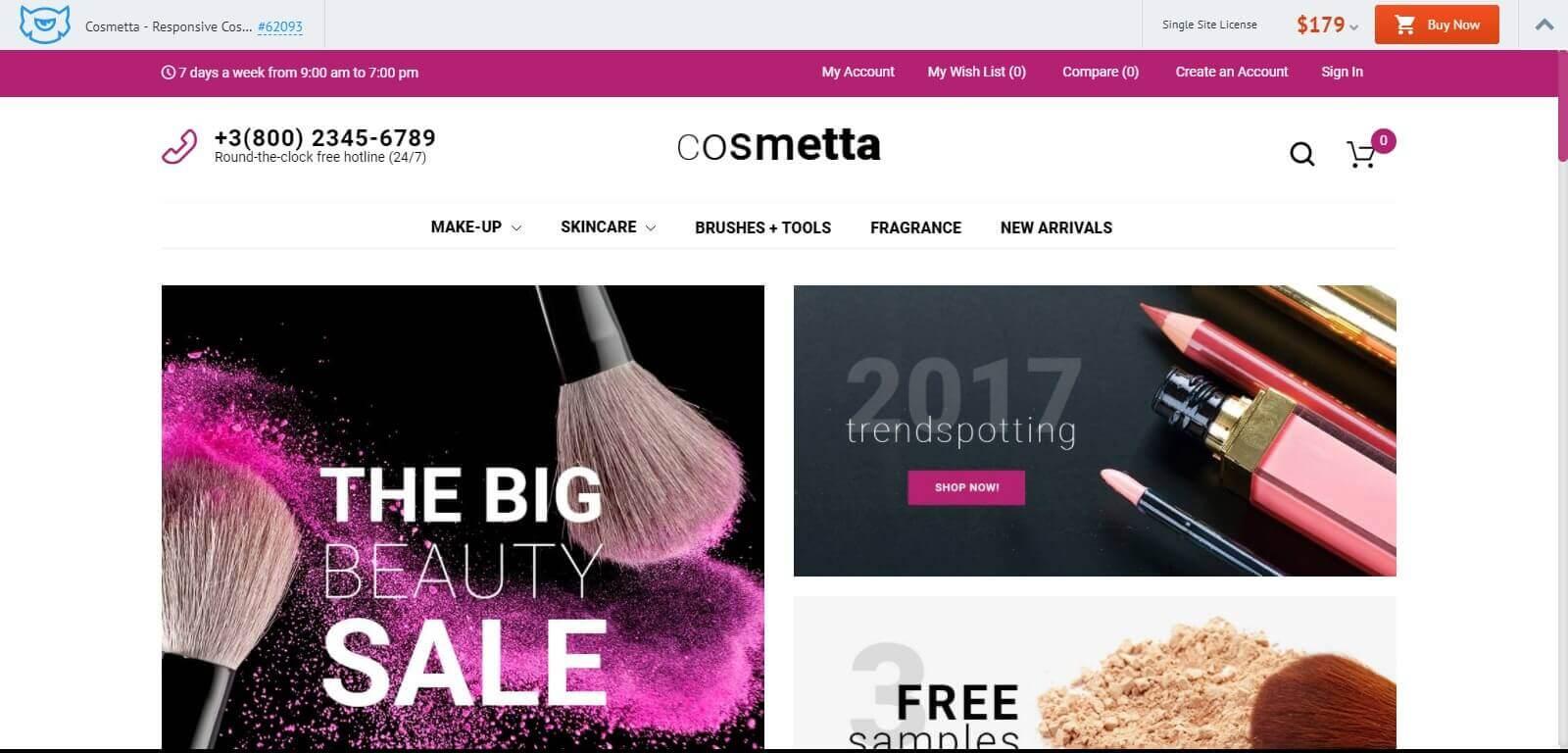 Mẫu website bán hàng mỹ phẩm chuyên nghiệp, chuẩn seo