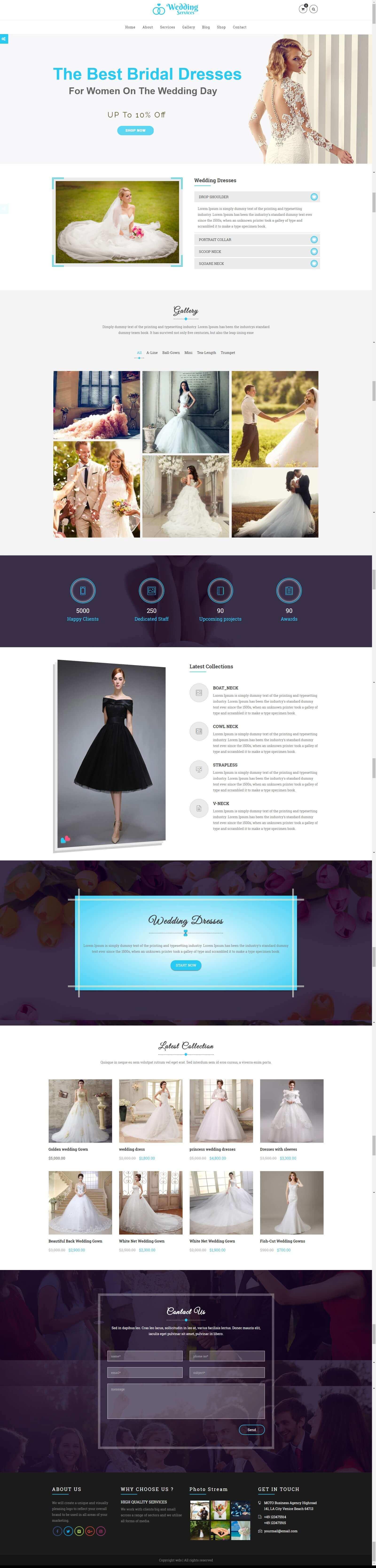 Mẫu website dịch vụ tiệc cưới đẹp, chuyên nghiệp, chuẩn seo