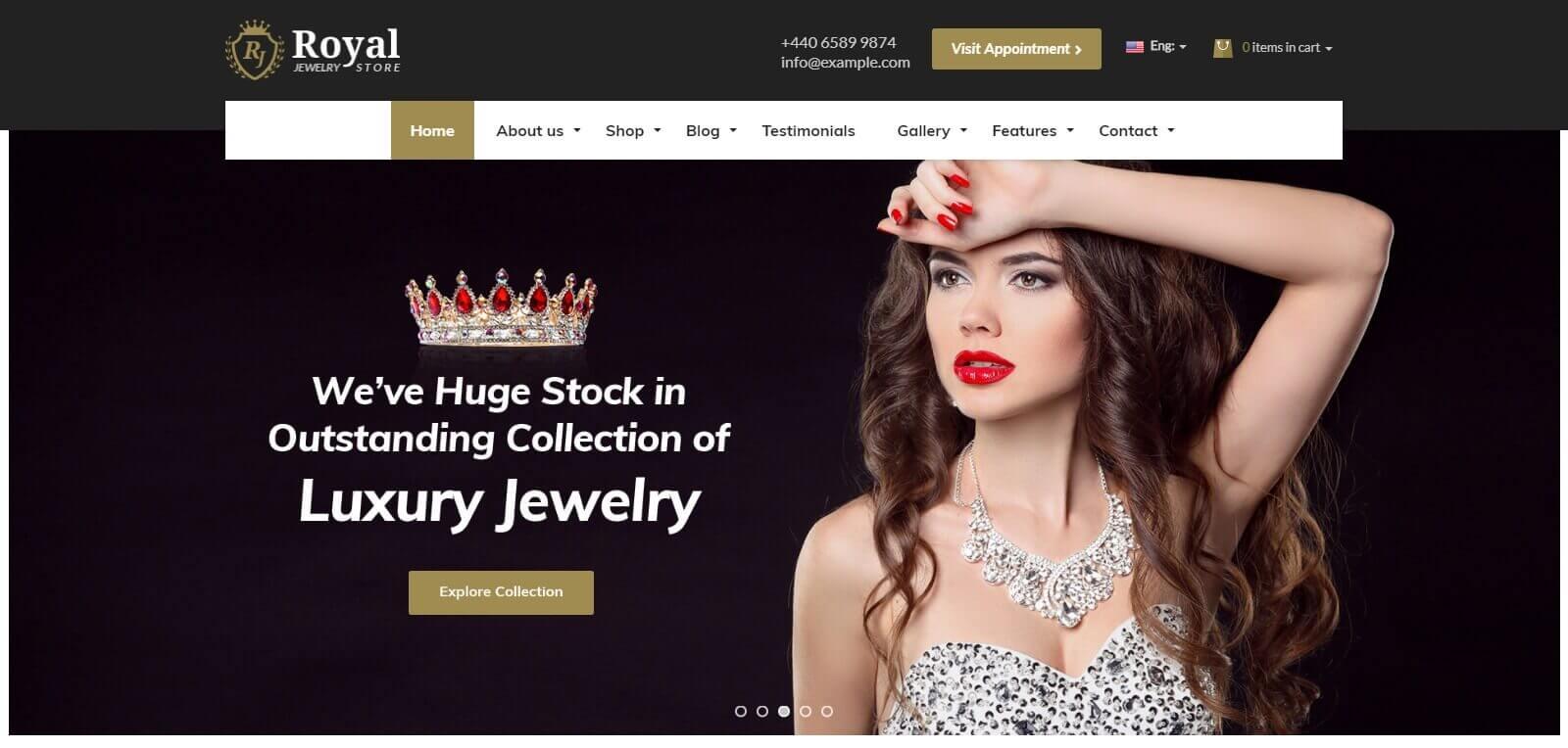 Thiết kế website bán hàng dây chuyền, trang sức, cơ hội mở rộng kinh doanh