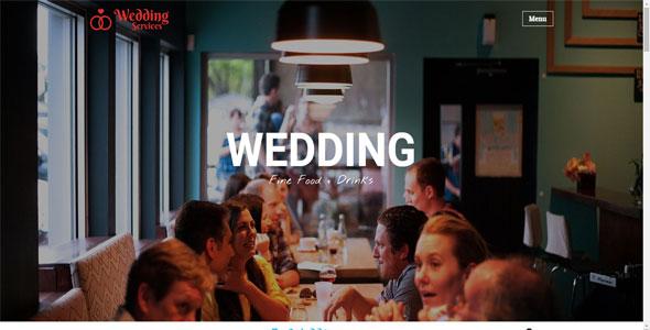 Mẫu website dịch vụ tiệc cưới | Thiết kế website dịch vụ tiệc cưới