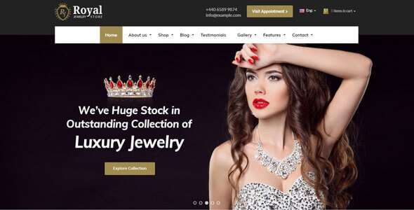 Mẫu website bán hàng dây chuyền | Thiết kế website bán hàng dây chuyền, trang sức