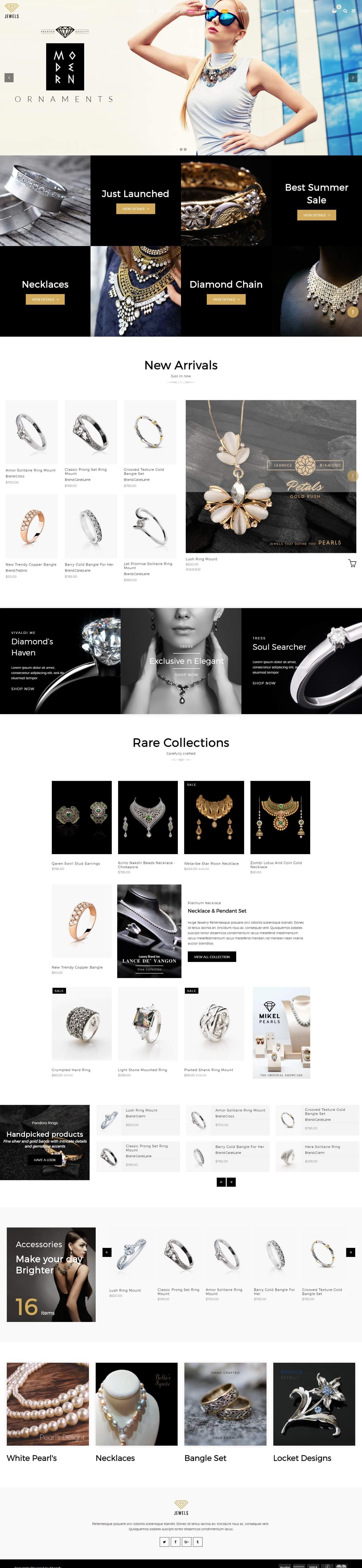 Mẫu website bán nhẫn, nữ trang đẹp mắt, chuyên nghiệp, sang chảnh