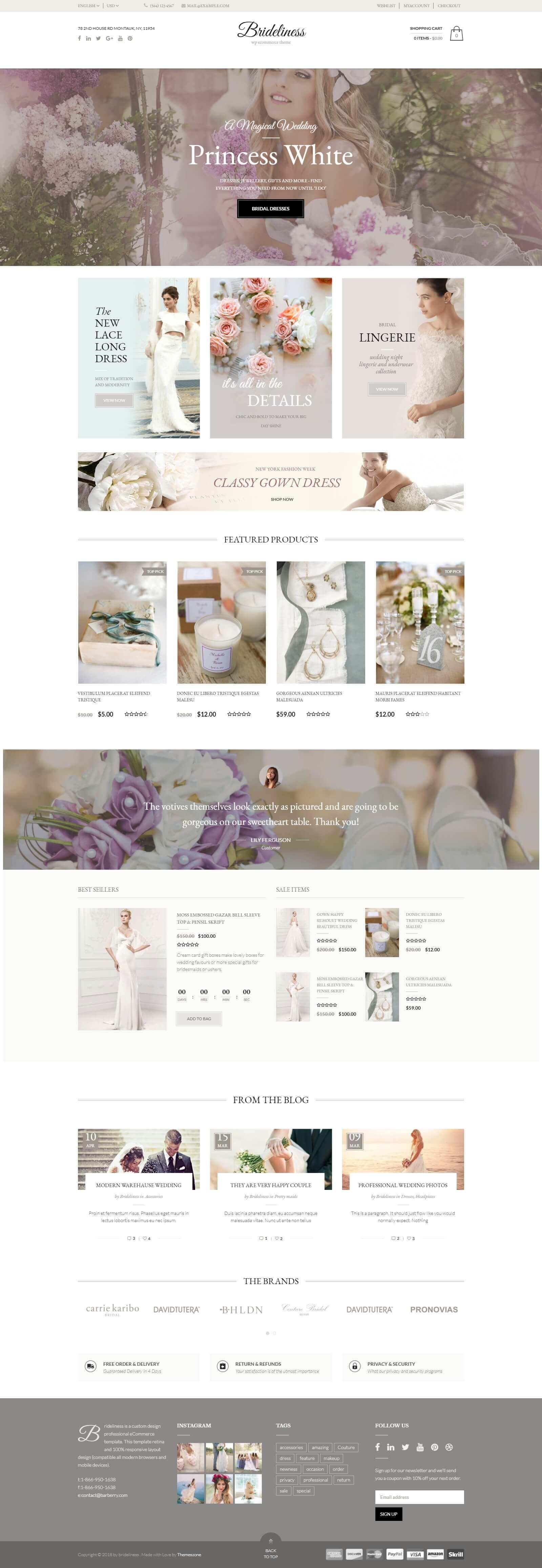 Mẫu website cho thuê áo cưới đẹp mắt, ấn tượng, chuẩn seo