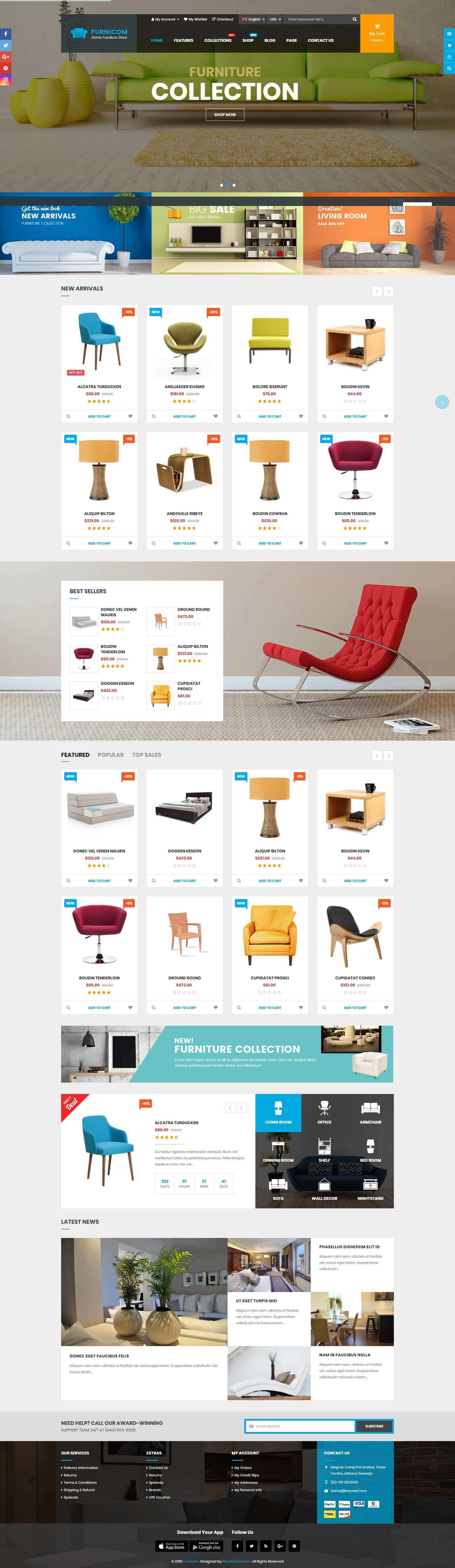Mẫu website bán hàng nội thất đẹp, chuyên nghiệp