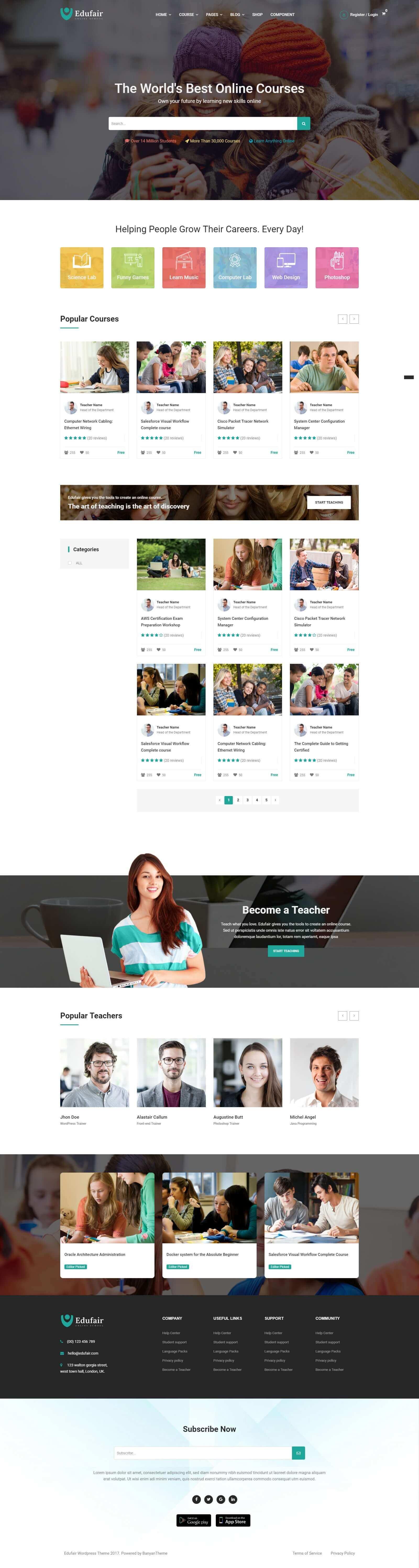 Mẫu website trường học đẹp, chuyên nghiệp, chuẩn seo