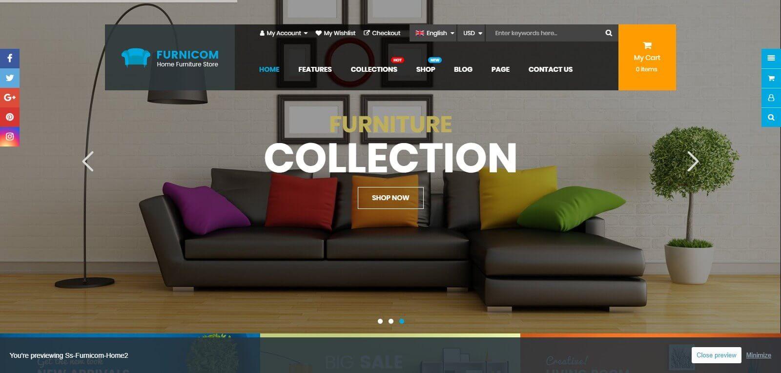 Thiết kế website bán hàng nội thất, mở rộng thị trường kinh doanh