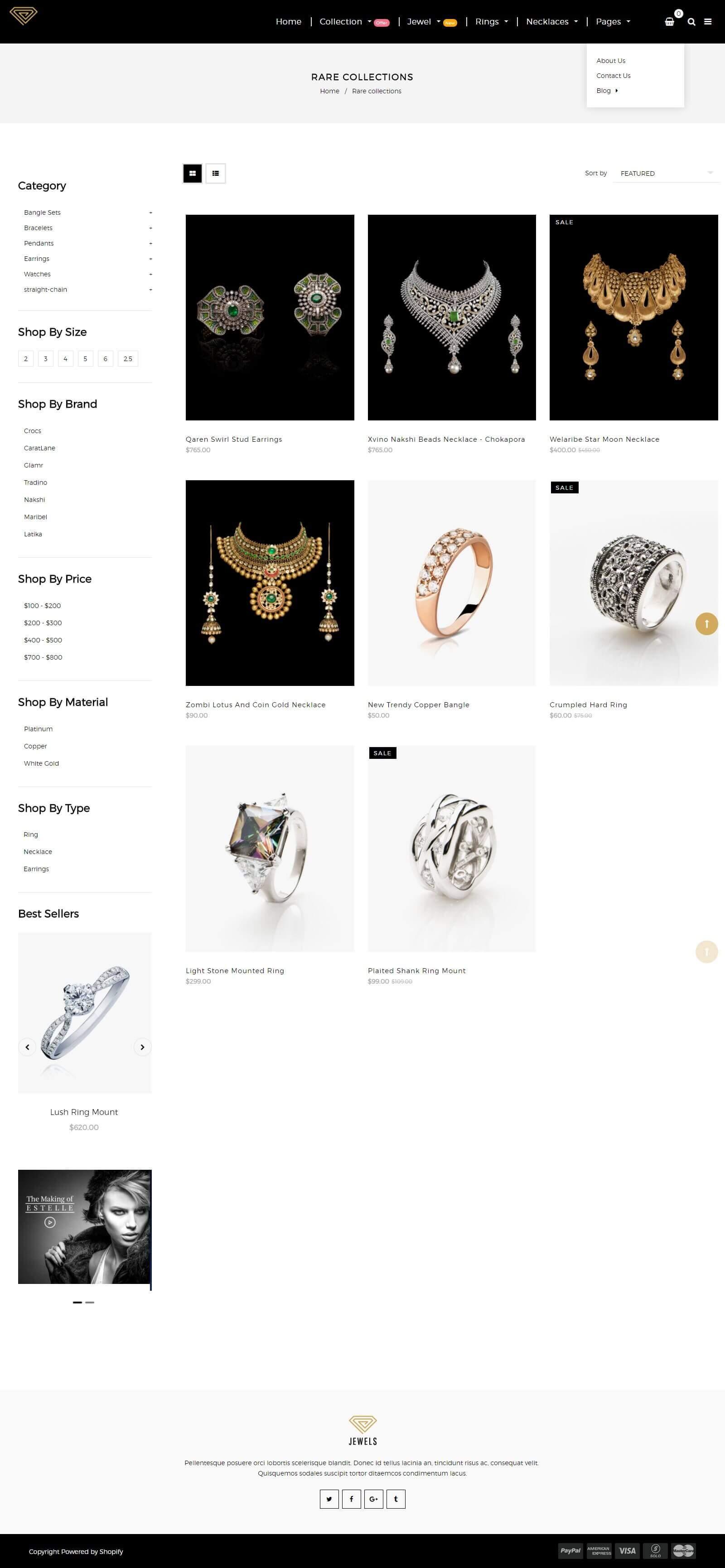 Các tính năng của mẫu website bán nhẫnq