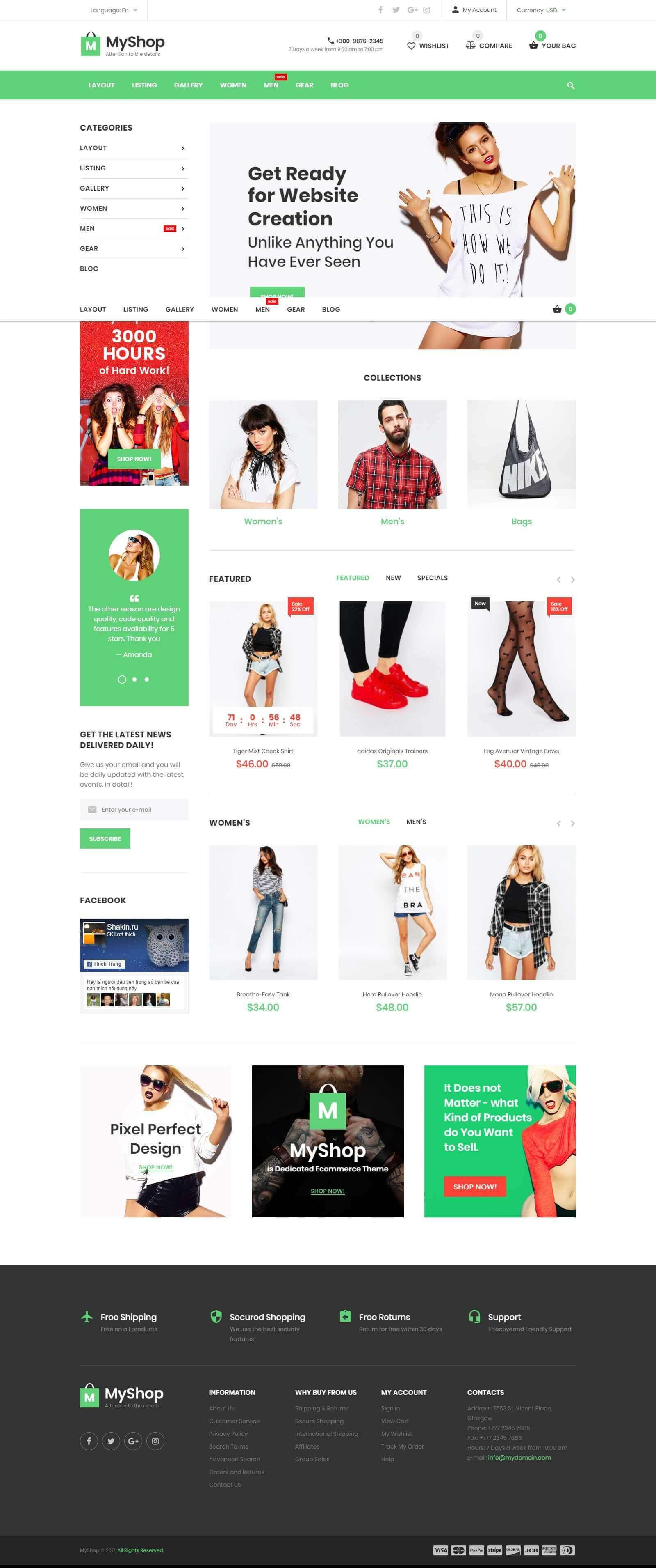 Mẫu website bán giày dép đẹp, chuẩn seo