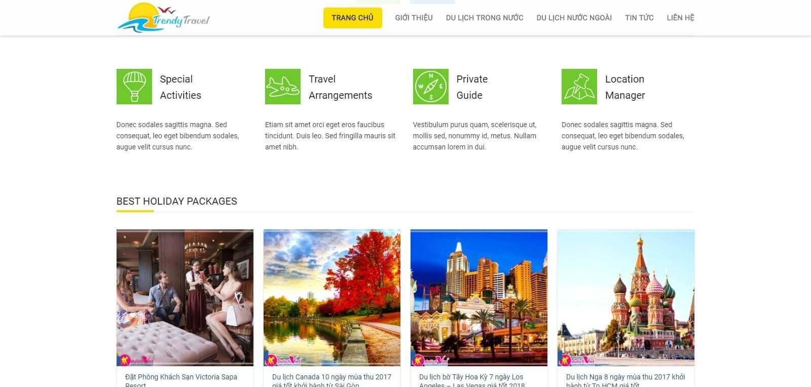 Thiết kế website du lịch, mở rộng thị trường tiềm năng