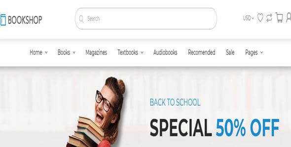 Mẫu website bán sách | Thiết kế website bán sách