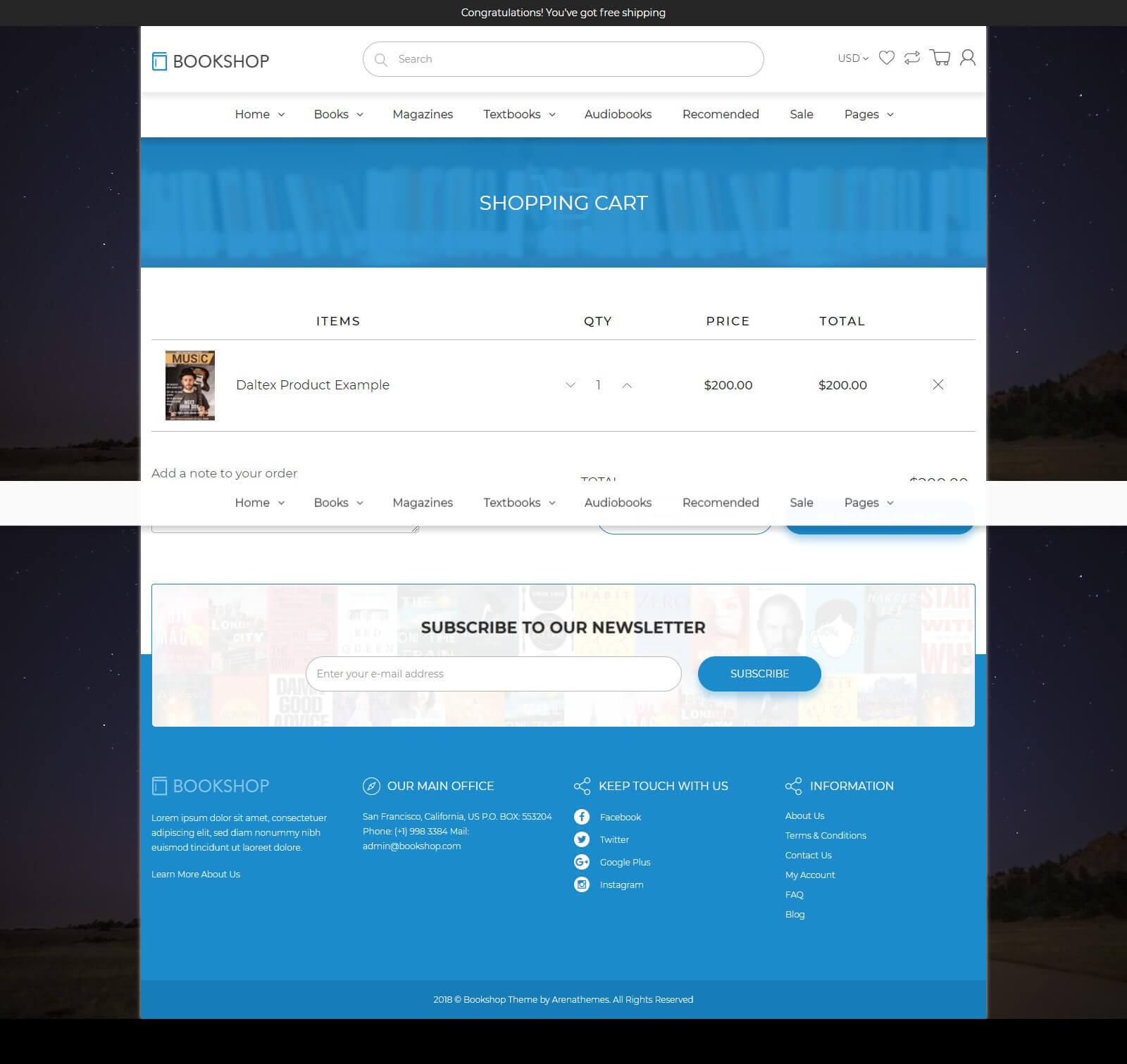 Tính năng đặt hàng, thanh toán online