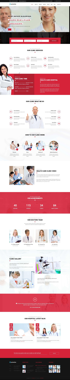 Mẫu website phòng mạch hiện đại, chuyên nghiệp, chuẩn seo