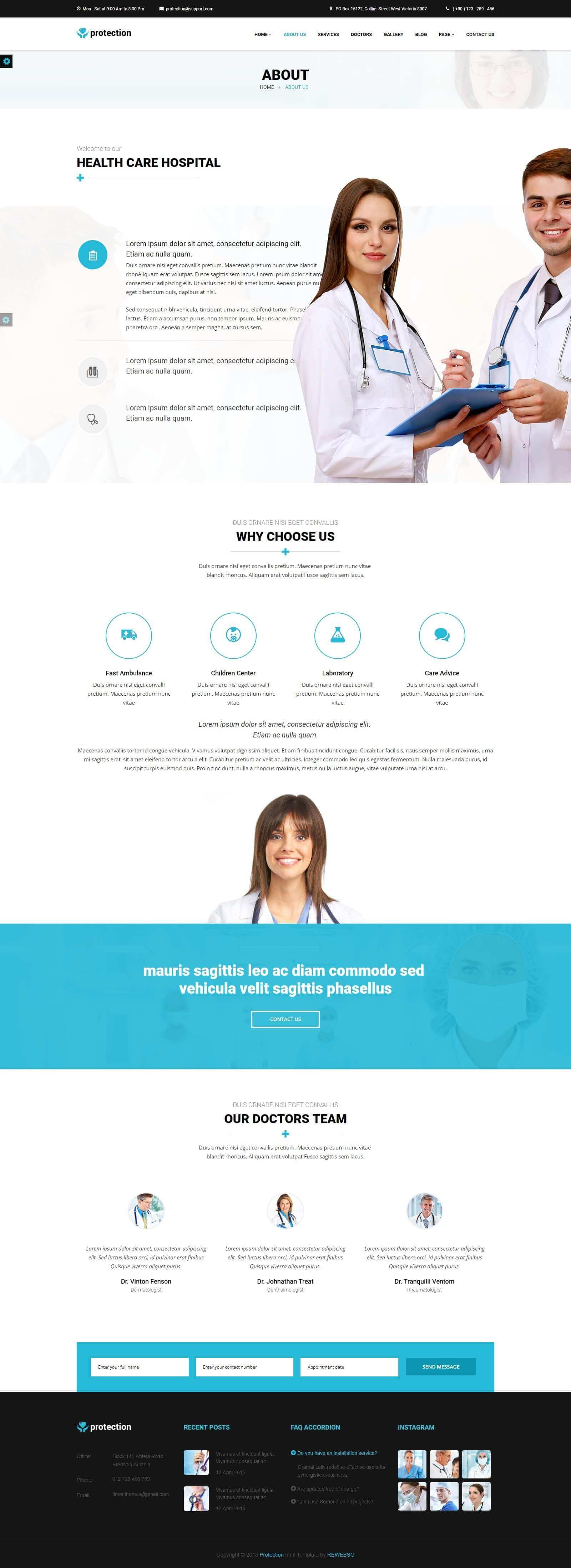 Trang giới thiệu website phòng mạch