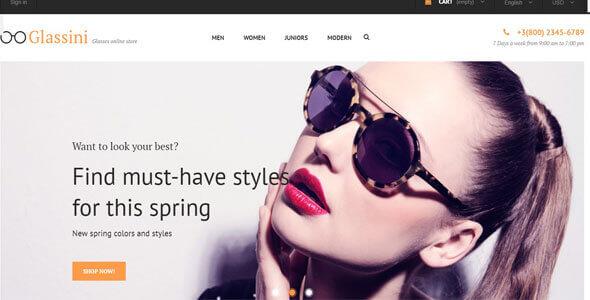 Mẫu website bán mắt kính | Thiết kế website bán mắt kính