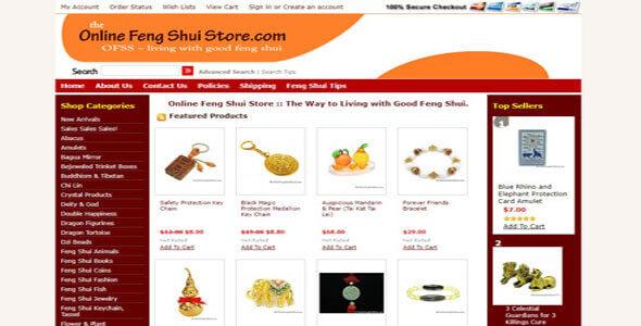 Mẫu website bán hàng phong thủy | Thiết kế website bán hàng phong thủy